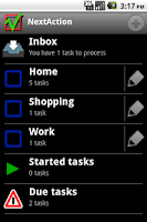 Screenshot of NextAction