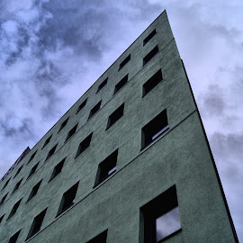 University building by Anita Berghoef - Buildings & Architecture Office Buildings & Hotels ( modern, university, building, university of utrecht, window, the netherlands, windows, architecture, looking up, utrecht )