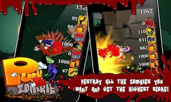Screenshot of Push the Zombie