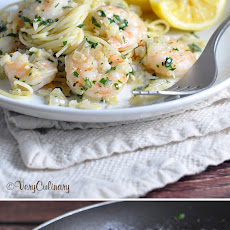 Lemon Cream Shrimp Scampi