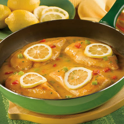 Chicken in Savory Lemon Sauce