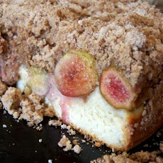 Streuselkuchen Topped W. Fresh Fig or Peach, Plum (Bread Machine