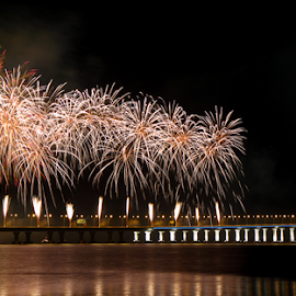 Grand Opening of Penang Second Bridge by Ricky Liew - Buildings & Architecture Bridges & Suspended Structures ( penang second bridge, penang, fireworks, long exposure, grand opening )