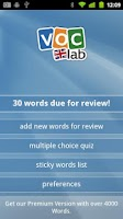 Screenshot of Learn English (UK) Flashcards