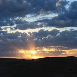 Sunset in Montana  by Mark  R.  Worden - Landscapes Sunsets & Sunrises ( sky, clowds, sunset, evening, sun )