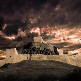 Rupea Citadel by Dragos Birtoiu - Buildings & Architecture Public & Historical ( sky, citadel, dramatic, romania, landscape )