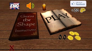 Screenshot of Guess the shape Quiz game
