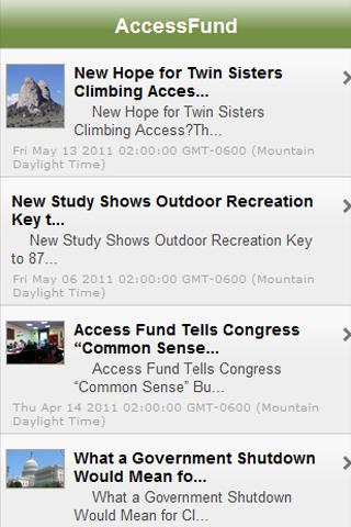 Access Fund Climbing News
