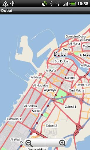 Dubai Street Map