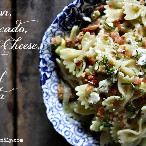 Avocado, Bacon, Bleu Cheese Pasta