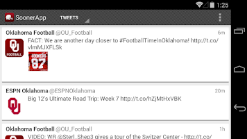Screenshot of SoonerApp OU Football News