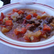 Crock Pot Root Vegetable Ground Beef Stew