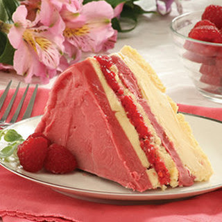 Frozen Raspberry Layer Cake