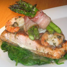 Salmon With Herb Shrimp Sauce