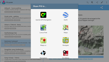 Screenshot of POI pocket