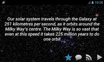 Screenshot of Amazing Universe Facts