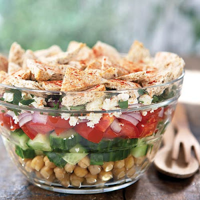 Greek Salad With Baked Pita