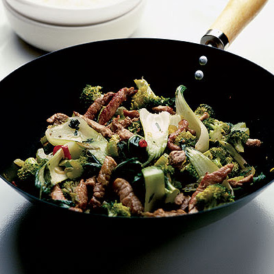 Spiced Pork With Heaps Of Stir-fried Greens