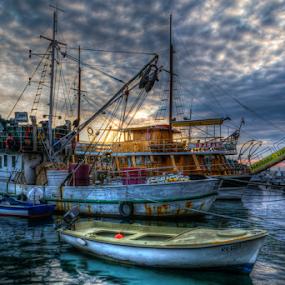 Fishing Boat in Rovinj by Siniša Biljan - Transportation Boats