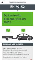 Screenshot of Bil og henger