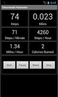 Screenshot of TeknoHeath Pedometer