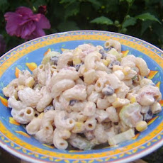 Corn and Black Bean Macaroni Salad - Tex Mex