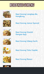 Resep Nasi Goreng - screenshot