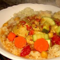 Moroccan-Style Chicken and Vegetable Stew with Cous Cous