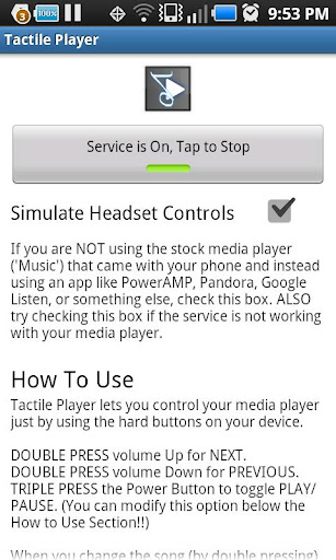 tactile-player-free for android screenshot