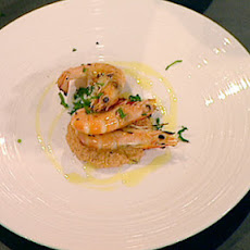 Prawns with Romesco sauce