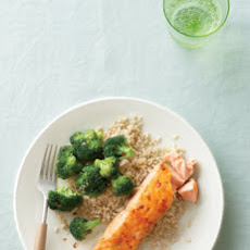 Glazed Salmon with Spicy Broccoli