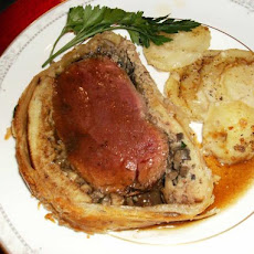 Beef  Wellington With Truffle Madeira Sauce