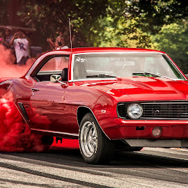 by Dennis Scanlon - Transportation Automobiles ( camaro, burnout, chevy )