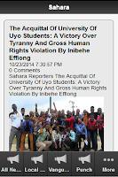 Screenshot of Nigerian Newspapers Today