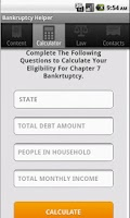 Screenshot of Bankruptcy Helper