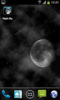 Screenshot of Night Sky LITE Live Wallpaper