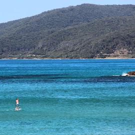 by Dan Mounsey - Instagram & Mobile Instagram ( Australia, GreatOceanRoad, coast, blue, paddleboard )