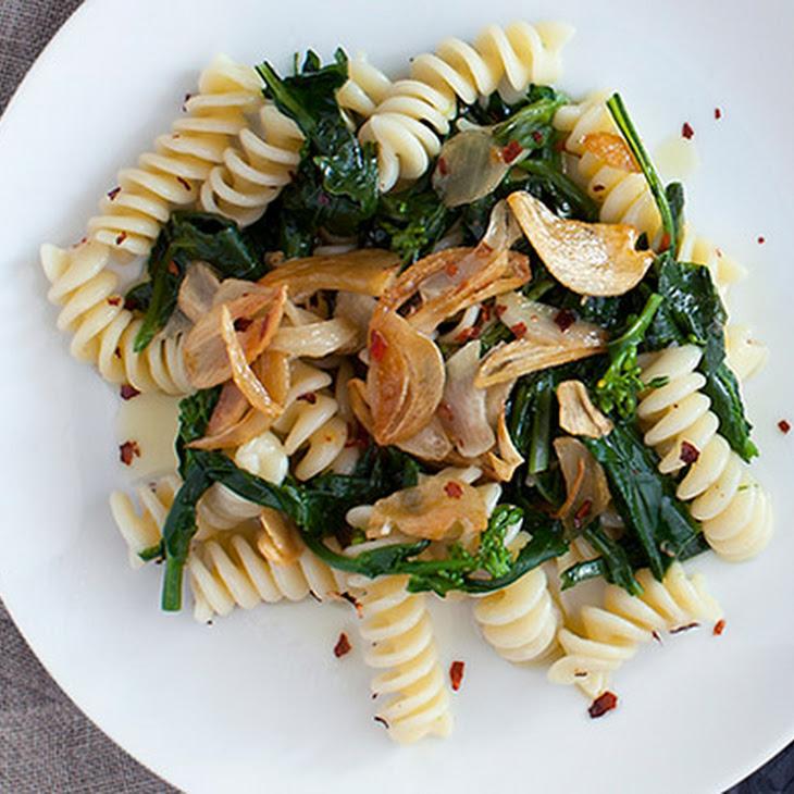 Broccoli Rabe Pasta with Golden Garlic Recipe | Yummly