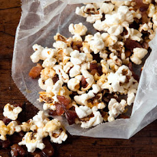 Popcorn with Bacon Fat, Bacon, and Maple Syrup Recipe