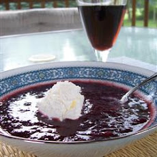 Chilled Blueberry Soup