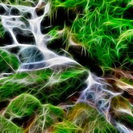 creek by Pavel Klučar - Digital Art Abstract