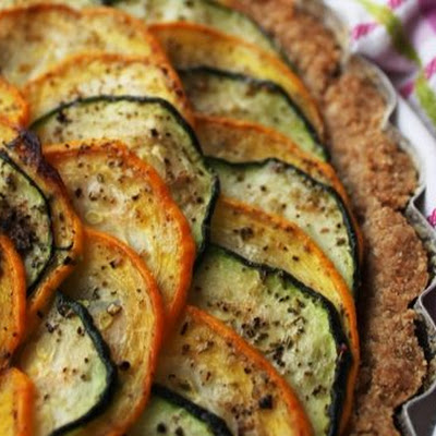 Green and Yellow Zucchini Tart