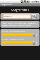 Screenshot of Anagrammes