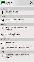 Screenshot of Kalendarz Kopex