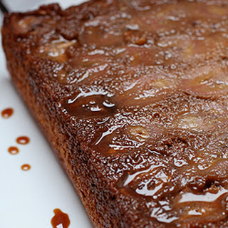 Banana and Chocolate Chip Upside Down Cake