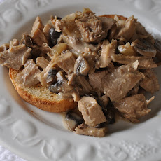 Leftover Turkey Sort-of-Stroganoff