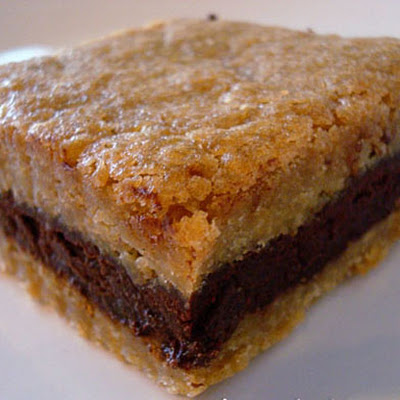 Dark Chocolate Ganache Filled Brown Sugar Bars