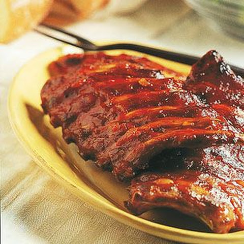 Hickory-Smoked Ribs with Georgia Mop Sauce