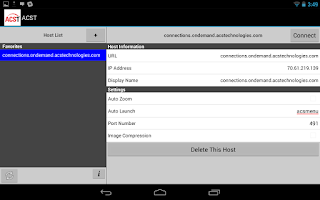 Screenshot of ACS OnDemand
