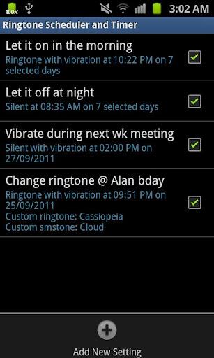 Ringtone Scheduler Plus